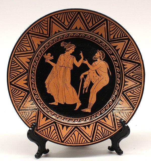 Naples Italian Giustiniani red pottery plates - 5