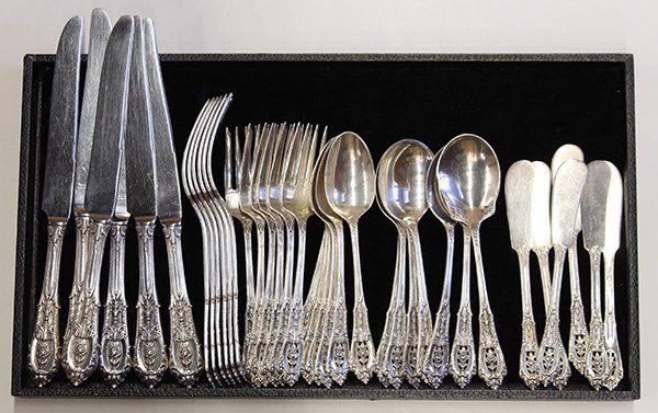 American sterling silver flatware service