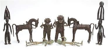Burkina Faso, West Africa, decorative brass figural