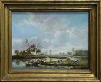 Painting, Continental School (20th century), River