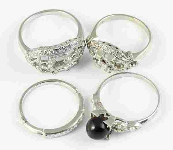 Collection of diamond, platinum and white gold jewelry