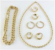 Collection of yellow gold jewelry