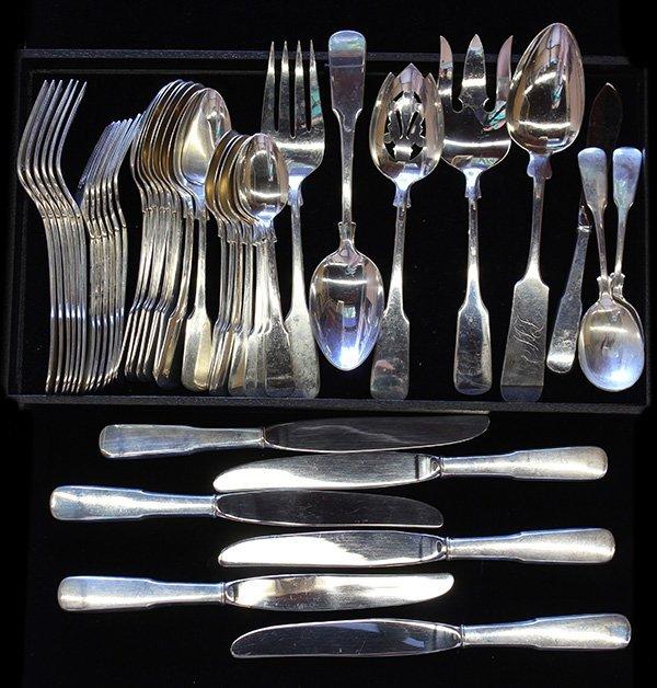"International ""1810"" sterling silver flatware service,"