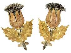 Pair of Buccellati 18k gold earrings