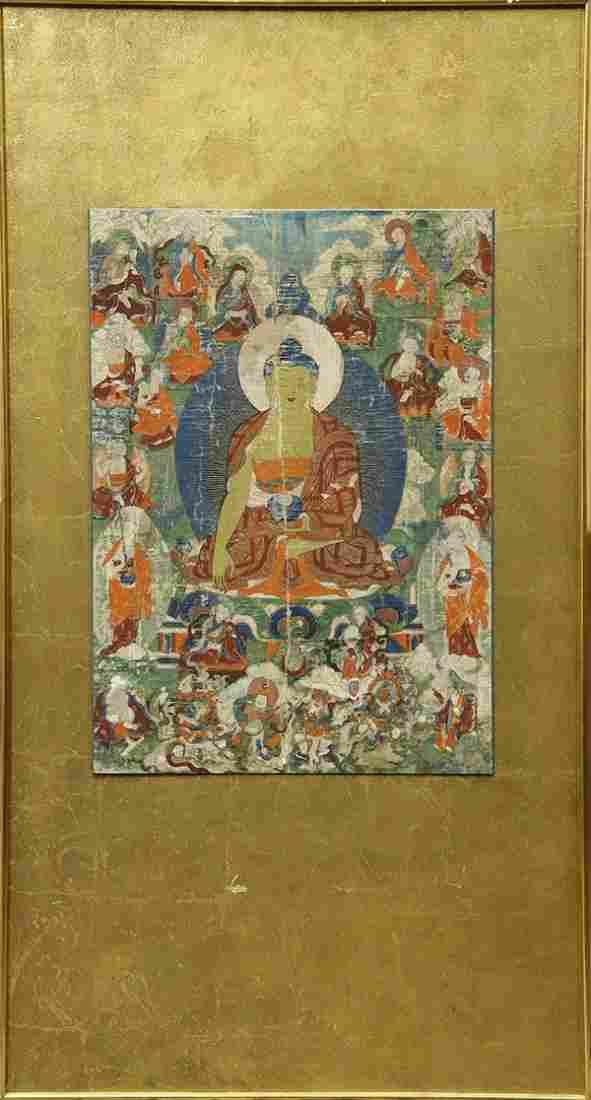 Tibetan Painted Thangka, Amitabha