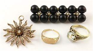 Collection of  Vintage and Victorian jewelry items