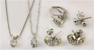 Collection of diamond and yellow gold jewelry items