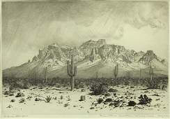 Prints, George Elbert Burr, Superstition Mountain