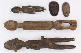 West African carved wood sculptures