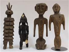 Decorative carved wood figures