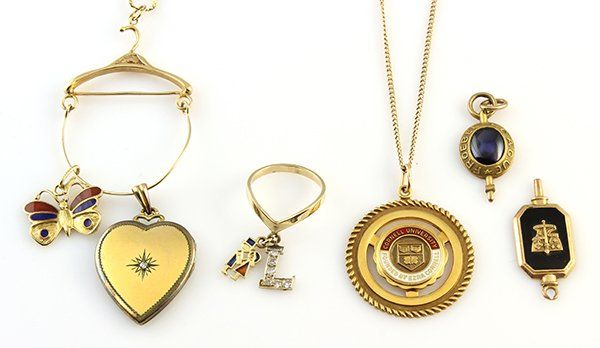 Collection of diamond and gold jewelry