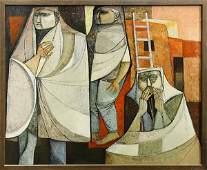 Painting by Lucia Renucci, ''Taos Pueblo,'' 1974