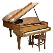 lot of 2 Steinway and Sons New York walnut grand