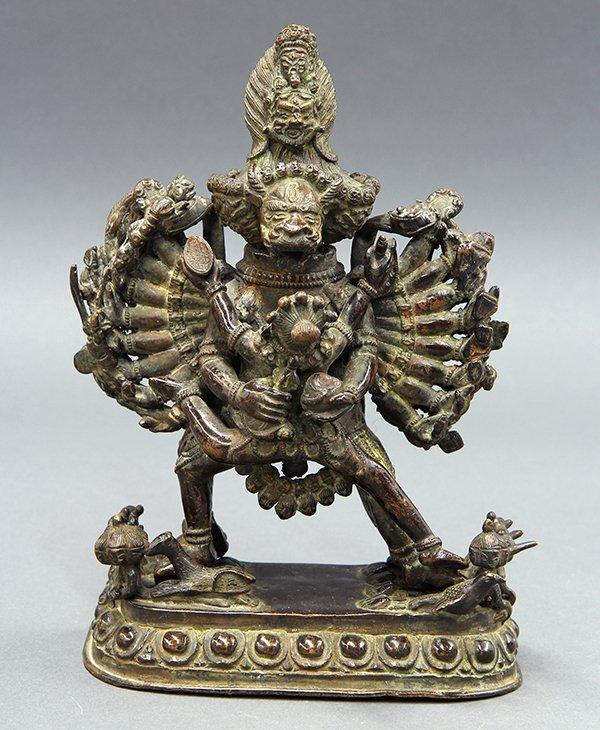Sino-Tibetan Bronze Yamantaka Father-Mother