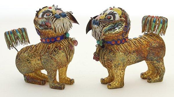 Chinese Filigree Lions