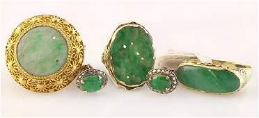 Collection of jadeite jewelry