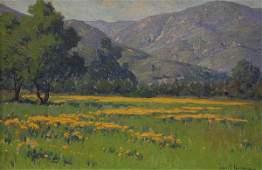 Painting, John Marshall Gamble, Poppies Santa Barbara