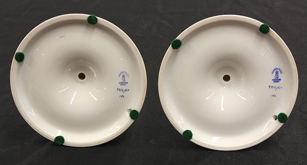 """Pair of Herend candlesticks in the """"Rothschild"""" pattern - 3"""
