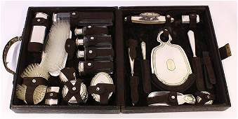 American Edwardian sterling silver 14k gold