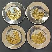 (lot of 4) The Franklin Mint Bicentennial Commemorative