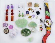 Collection of unmounted gemstones and miscellaneous