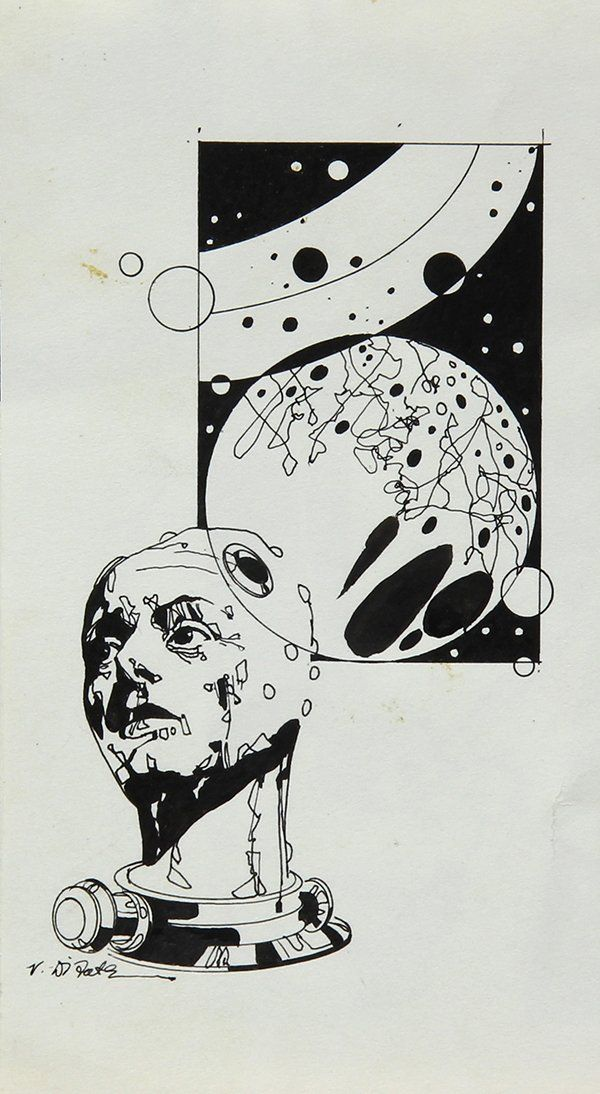 Science Fiction Illustrations including Edward (Emsh) E