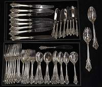 American Wallace sterling silver flatware service for