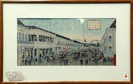 Japanese Woodblock Prints Kuniteru II Ginza 19c