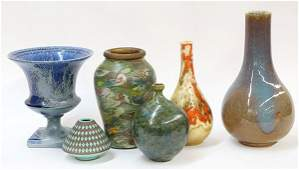 lot of 20 Two shelves of MidCentury art pottery