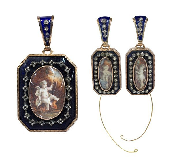Victorian diamond, gold and silver pendant locket and