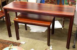 (lot of 4) Mid Century Danish occasional tables by