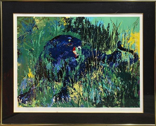 Serigraph, LeRoy Neiman, Black Panther