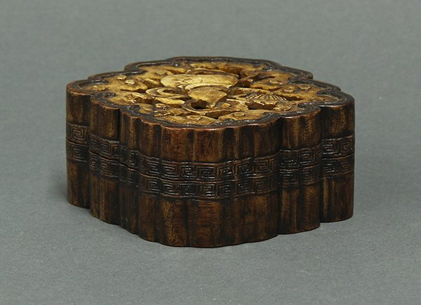 Chinese Soapstone Inlaid Wood Box