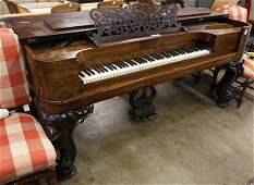 Steinway rosewood square grand piano circa 1877