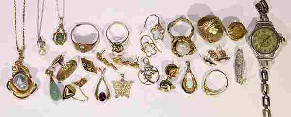 Collection of gold jewelry
