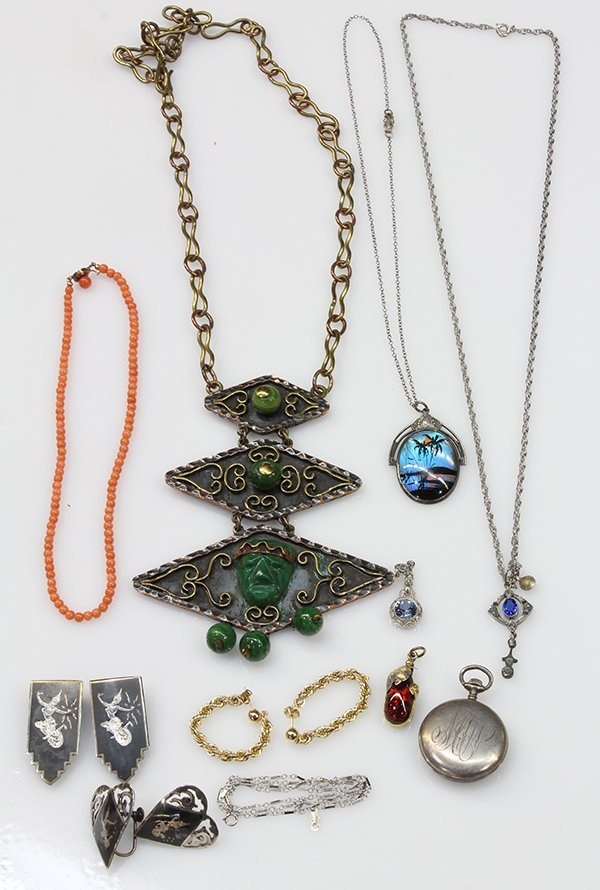 Collection of gem, gold, silver and mixed metal jewelry