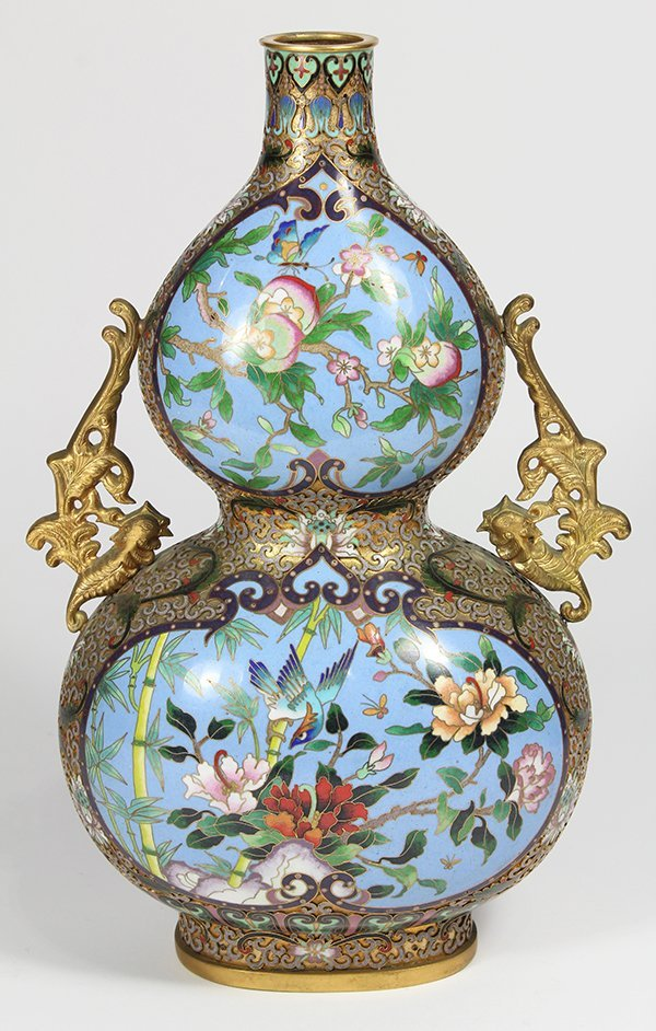 Chinese Cloisonne Double Gourd Vase