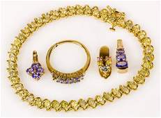 Collection of gem and 10k yellow gold jewelry