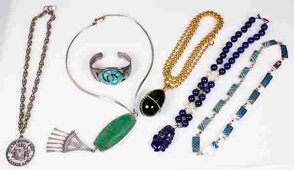 (Lot of 6) Miscellaneous jewelry items