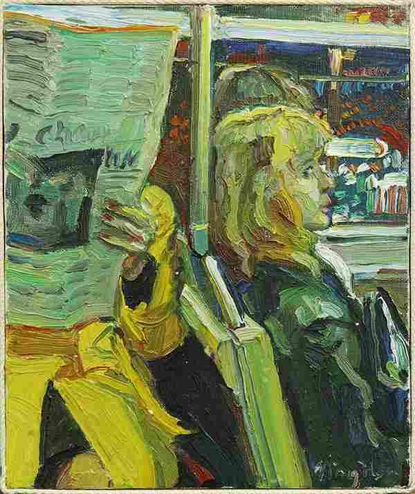 Painting, Hou Ning, Newspaper