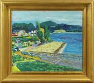 Paintings Coastal California Town  San Francisco in