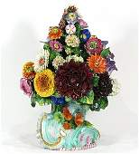 English polychrome decorated porcelain topiary of