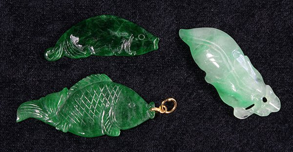 Chinese Jade Leaf and Fish