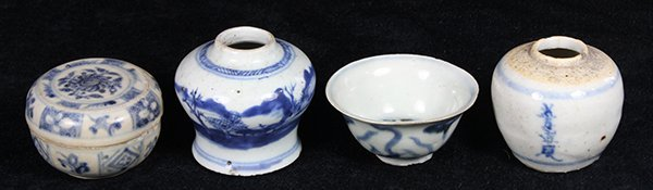 Chinese Blue and White Porcelain Jarlets/cup