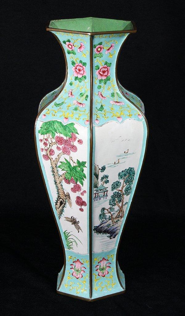 Chinese Canton Enamel Vase