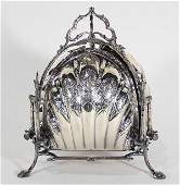 Victorian silver plate biscuit box, by george Travis&