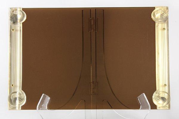 "Lalique ""Josephine""  art glass mounted acrylic desk pad"