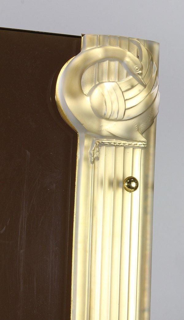 "Lalique ""Josephine""  art glass mounted acrylic desk pad - 2"