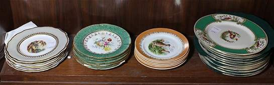 Collection of English porcelain plates, including (12)