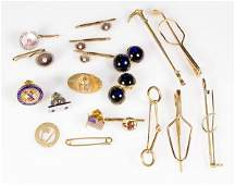 Collection of vintage gold jewelry